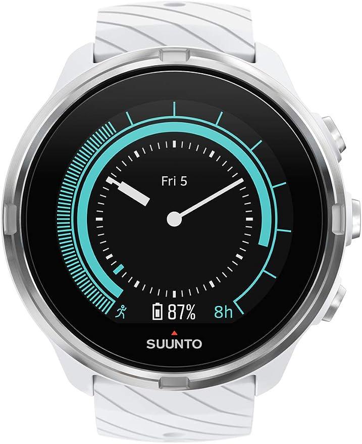 Suunto 9 Reloj con GPS para Multideporte, Unisex, Blanco, Talla ...