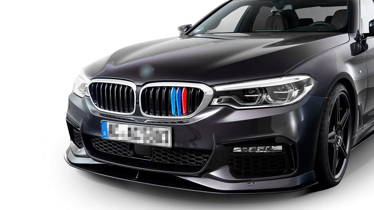TRI Color M-Performance Sporty Strips Exactly Fit BMW 3 Series F30 F31 320i 328i 330i 335i 340i Black Grills 8 Beam Bars Xotic Tech 1 Set M-Colored Kidney Grille Insert Trim