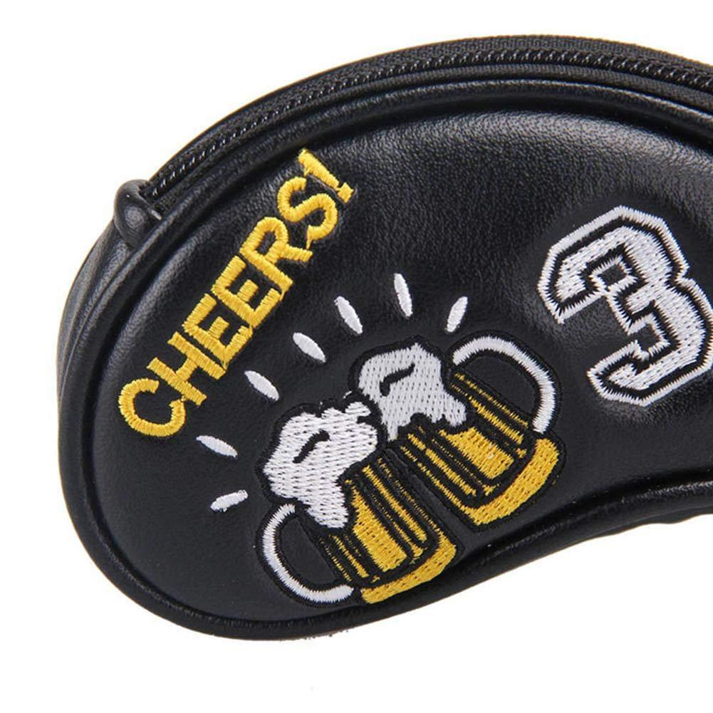 Mootea Golf Headcover, 10PCS PU Golf Iron Head Covers con ...