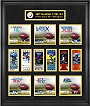 Pittsburgh Steelers Framed Super Bowl Replica Ticket & Score Collage - Limited Edition of 1000 - Fanatics