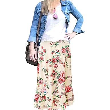 Theshy Moda para Mujer Dama De Cintura Alta Bohemia Vintage Suelta ...