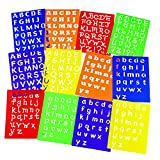 Multi-Font Alphabet Stencils - Stencils & Rubbing Plates - 12 per Pack