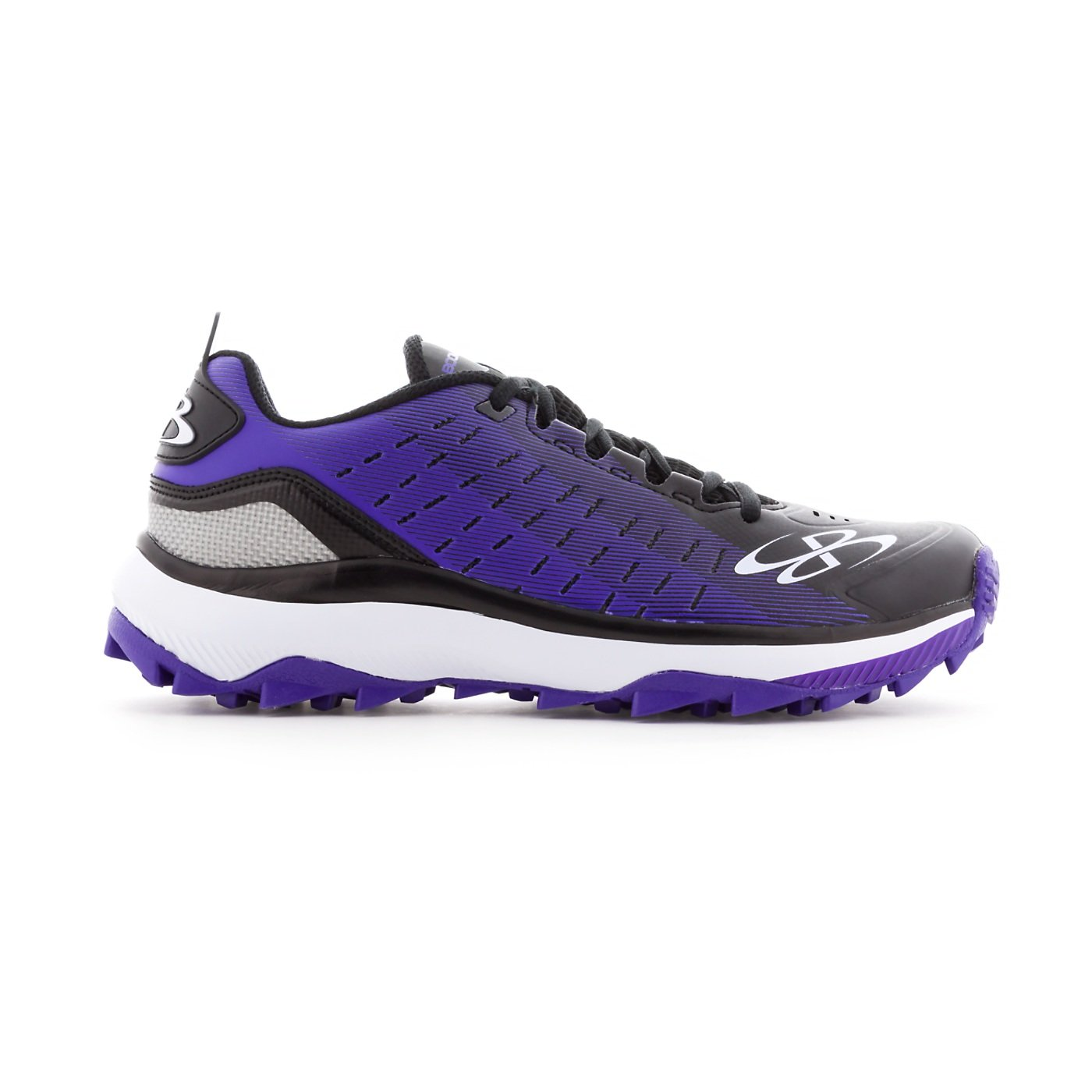 Boombah Men's Catalyst Turf Black/Purple - Size 8.5 by Boombah