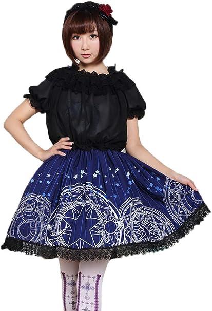 Ainclu Sakura - Falda para Mujer, poliéster, diseño coqueto de ...