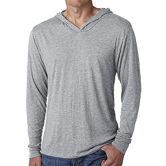 Camiseta Hombres, 2018 Moda Camisa Casual para Hombres Slim Fit Hombres Blusa Deportivas Pollover Outwear Tops: Amazon.es: Ropa y accesorios