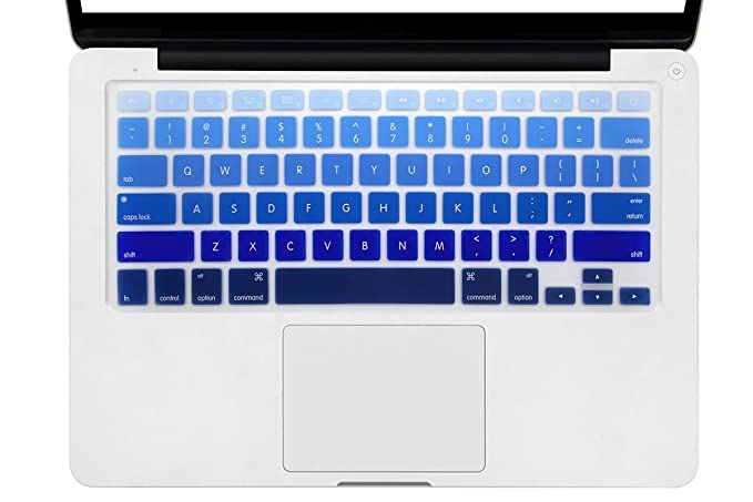 premium selection 987d6 9be0e DHZ Light Blue Gradient Keyboard Cover Silicone Skin for 2015 or Older  Version MacBook Air 13 MacBook Pro 13 15