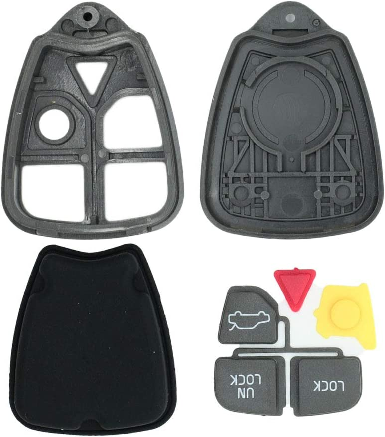 SEGADEN Replacement Key Shell Compatible with VOLVO 4 Button Keyless Entry Remote Key Case Fob PG781