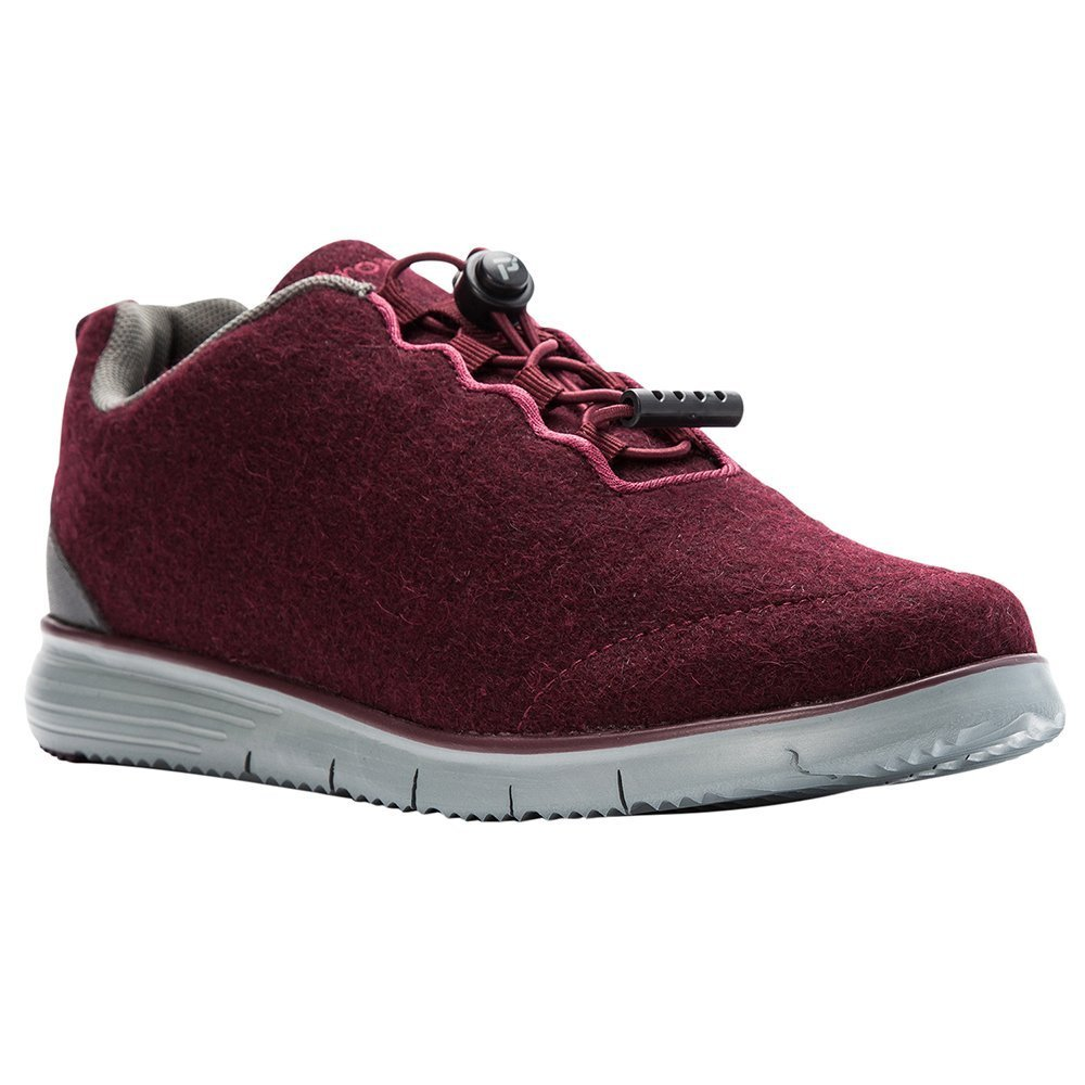Propet Women's TravelFit Prestige Walking Shoe B078YP8RFB 7 NARROW Narrow US|Burgundy Flannel