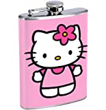 Hello Kitty 8oz Stainless Steel Flask Drinking Whiskey