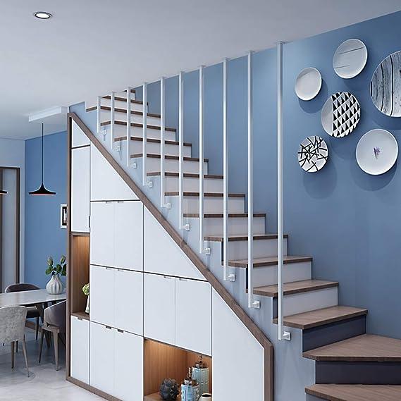 YUDE-L Barandilla de Escalera de Hierro Forjado Tipo, tubería galvanizada Blanca, barandilla Antideslizante de Seguridad para niños Mayores, Adecuada para escaleras: Amazon.es: Hogar