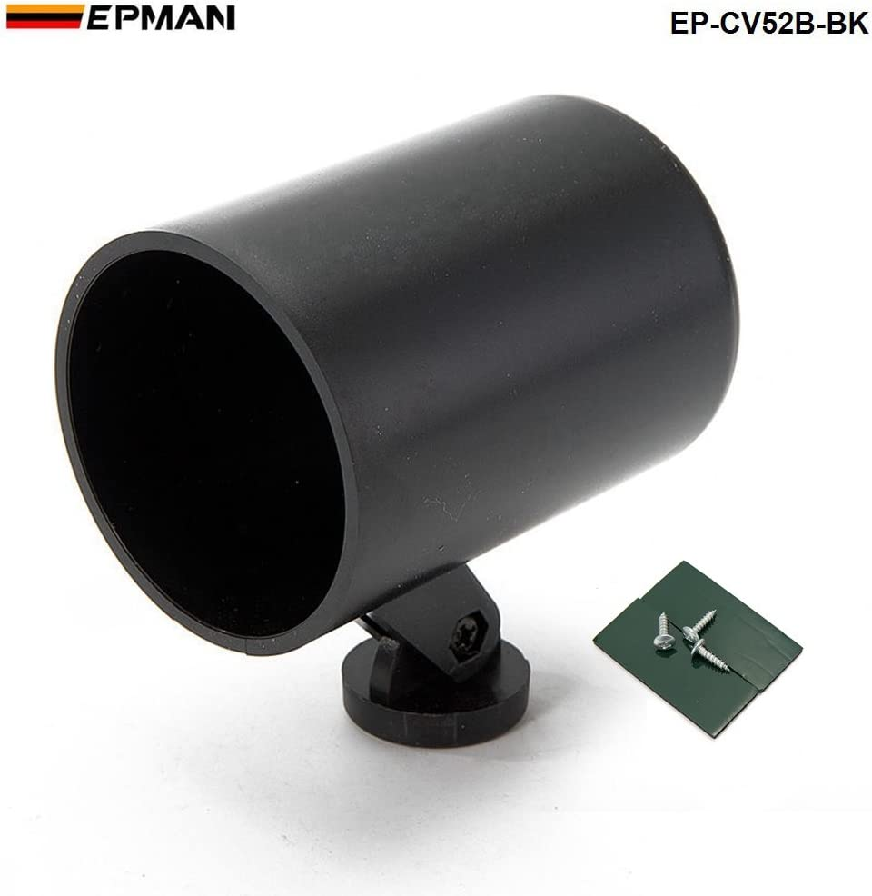 EPMAN CV52-BK Universal 2 Gauge Pod 52mm Gauge Cup Car Mount Holder Plastic Single Auto Car Meter Pods Dash Pod Mount Bracket