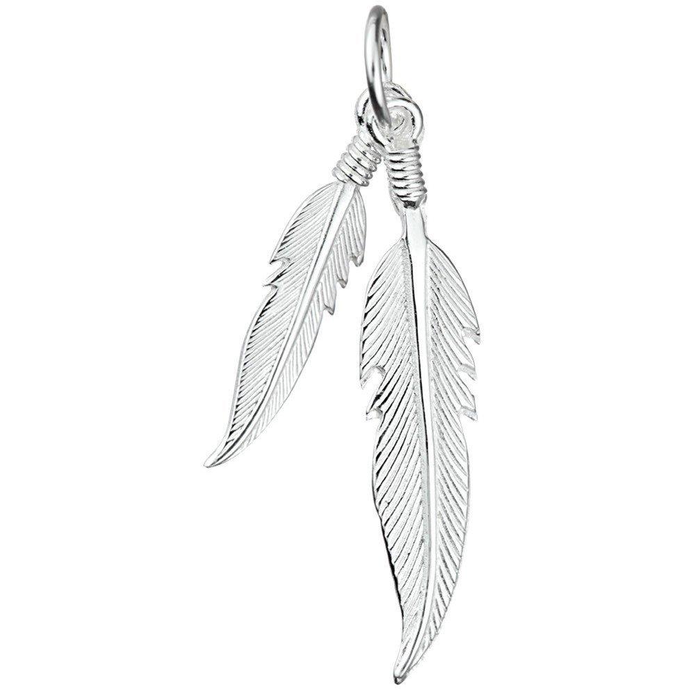 schmuxxi Indianer Engel Feder Damen Anhänger 925 Sterling Silber 35mm Silver 2013-3779