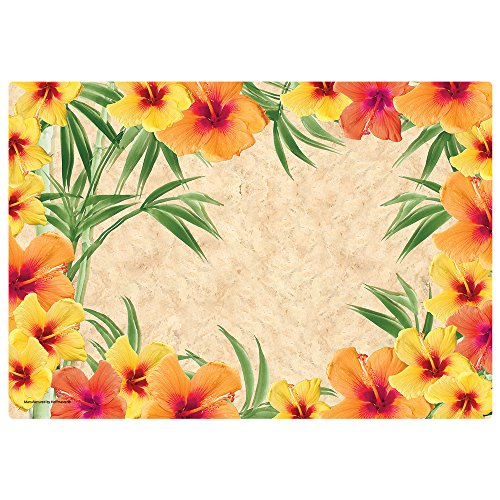 Hoffmaster 311112 Hibiscus Placemat, 100% Recycled Paper, 9-3/4