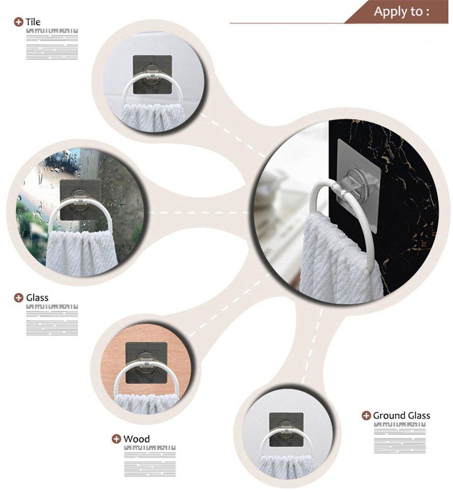 plastique Inchant Porte-serviette de cuisine non adh/ésive pour salle de bain auto-adh/ésive Restickable et lavable torchon // torchon Porte-serviette blanc