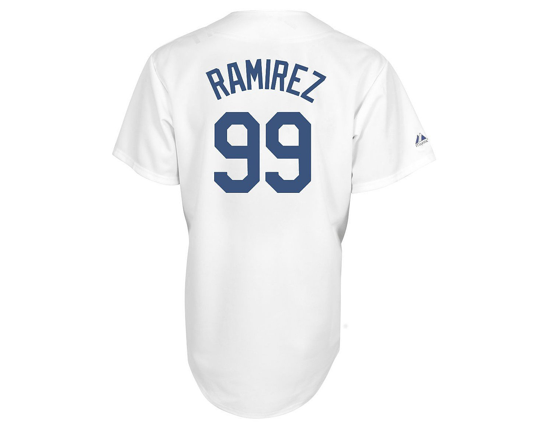 de9dca129f0 ... coupon for majestic l.a. dodgers 99 manny ramirez white replica  baseball jersey xxx large amazon.