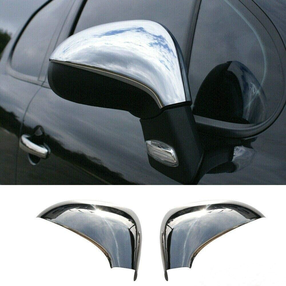 Chrome Wing Mirror Cover Set Fits 207//308 2007+ Both Sides