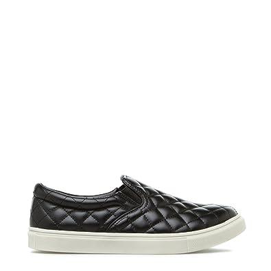 ShoeDazzle Womens Cruz Low Top Slip On Fashion Sneakers Black Size 5.5