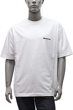 BALENCIAGA (バレンシアガ) 半袖Tシャツ メンズ BB CORP MEDIUM FIT T-SHIRT 612966 TJV87 9040 ホワイト [並行輸入品]
