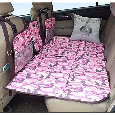 Ruirui Coussin voiture voiture SUV arrière véhicule voyage matelas dans le lit de couchage des matelas gonflables non-voiture , camouflage roseo
