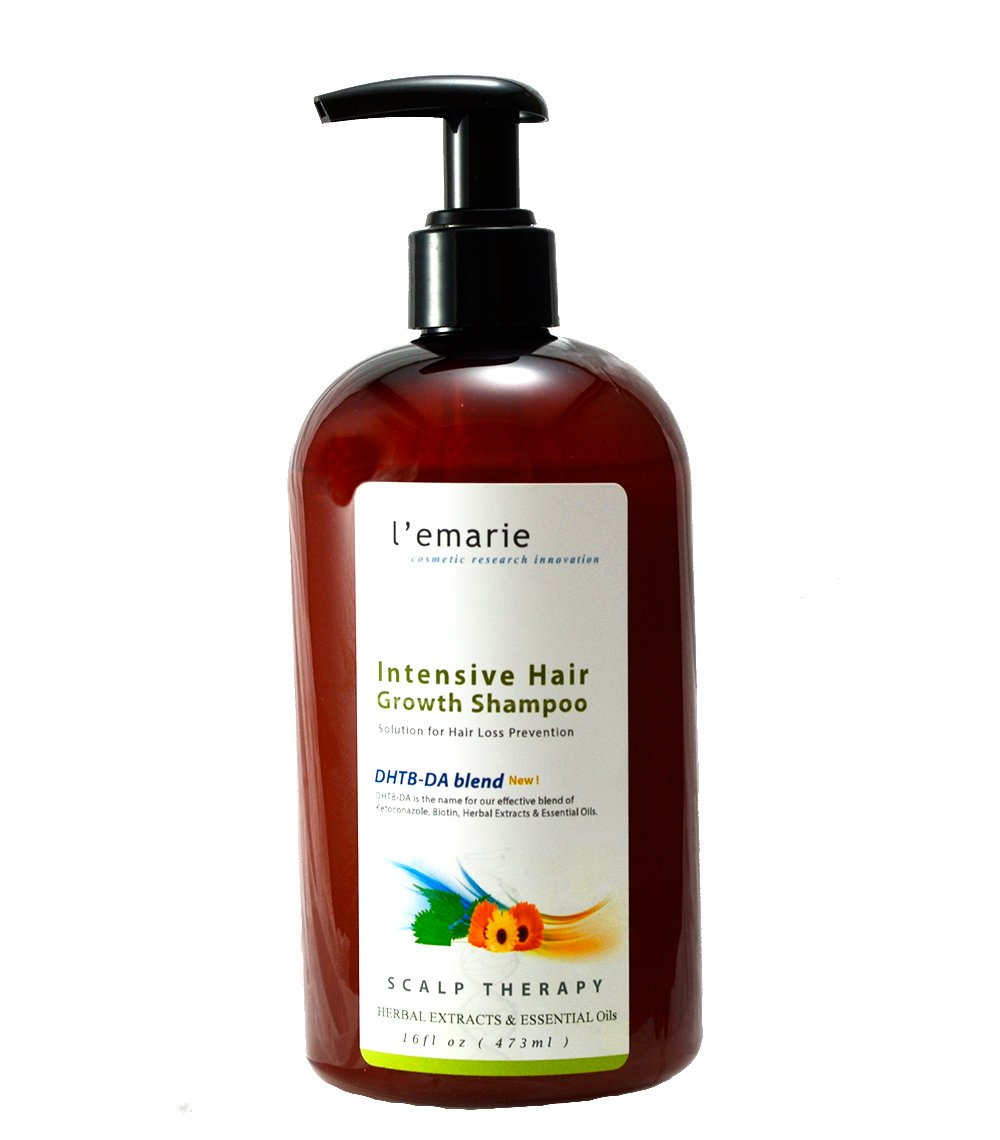 L'emarie Intensive Hair Growth and Hair Loss Shampoo, W/Caffeine, Herbal Extract, Essential Oils, Biotin - Hair Growth Treatment for Men and Women 16 Ounces