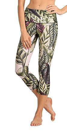 efa5888db7 Yoga Democracy Eco-Friendly Leaf it to me Leggings (Crops) at Amazon ...