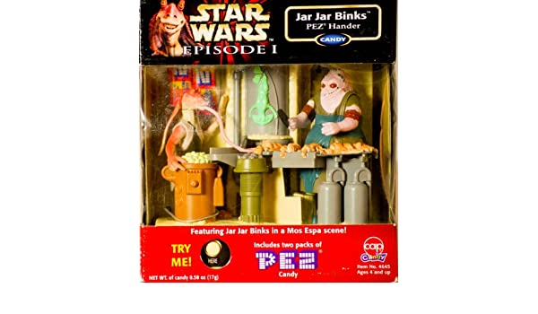 Jar Jar Binks Electronic Pez Dispenser Handler in Mos Espa Scene by cap candy: Amazon.es: Juguetes y juegos
