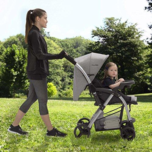 Jeep Unlimited Reversible Handle Stroller, Grey Tweed