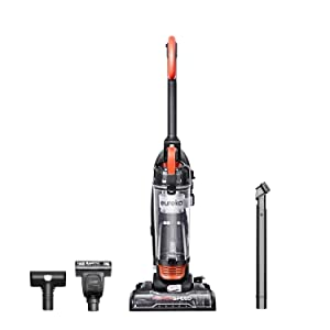 Eureka Power Speed NEU188A PowerSpeed Turbo Spotlight Lightweight Upright Vacuum Cleaner for Carpet and Hard Floor, Orange (Renewed)