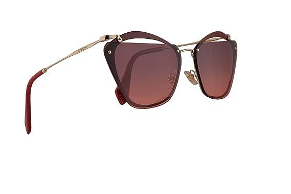 c29d45cc589e Image Unavailable. Image not available for. Color  Miu Miu MU54TS Sunglasses  Garnet w Pink Gradient Violet 64mm Lens CCGPZ0 MU ...