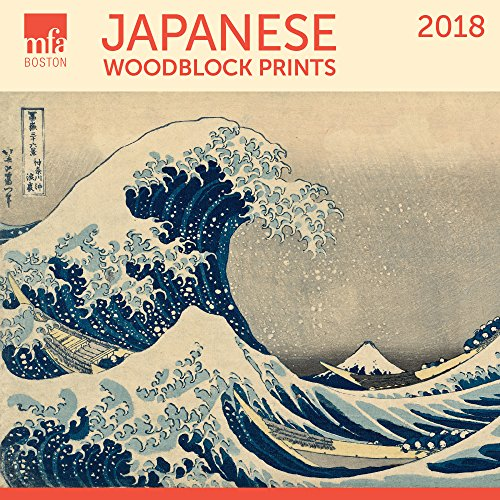 Japanese Woodblocks MFA Boston Mini Wall Calendar 2018
