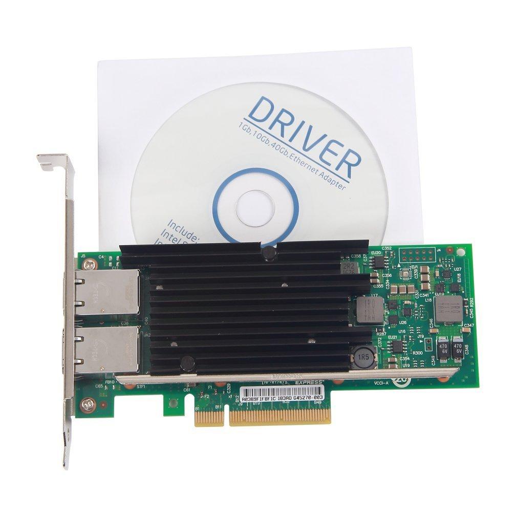 10Gtek® 10GbE PCIE Tarjeta de Red para Intel X540-T2- X540 Chip ...
