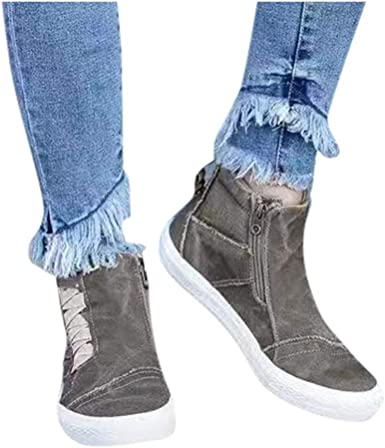 Ankle Boots for Women Low Heel