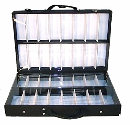 673321bc6cda Amazon.com   Deluxe Sunglass Briefcase Covered Display Case 32 Pair Eyewear  Sunglasses Holder   Everything Else