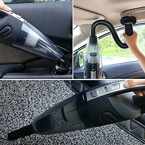 N/ A Aspirateur de Voiture Mini-aspirateur Portable sans Fil Rechargeable à Double Usage pour Voiture/Maison adapté au Corps