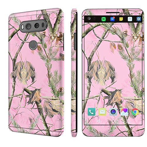 [LG V20] Skin [NakedShield] Scratch Guard Vinyl Skin Decal [Full Body Edge] [Matching WallPaper] - [Pink Hunter Camouflage] for [LG V20]