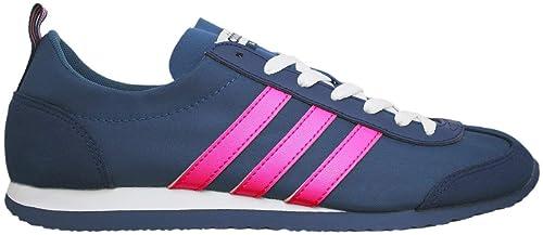 adidas VS Jog W - Zapatillas Deportivas para Mujer, Azul - (Azubas/Rosimp
