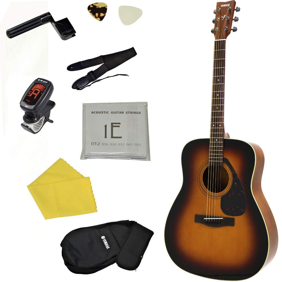 YAMAHA / F370 TBS(タバコブラウンサンバースト)【アコースティックギター9点入門セット!】 ヤマハ フォークギター アコギ F-370 入門 初心者   B07PMZ8KZ1