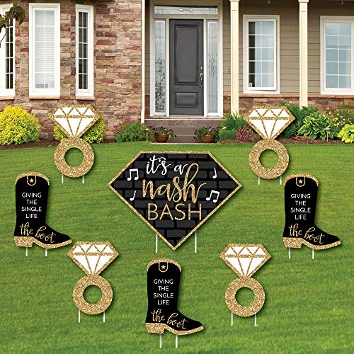 Nash Bash - Yard Sign and Outdoor Lawn Decorations - Nashville Bachelorette Party Yard Signs - Set of 8