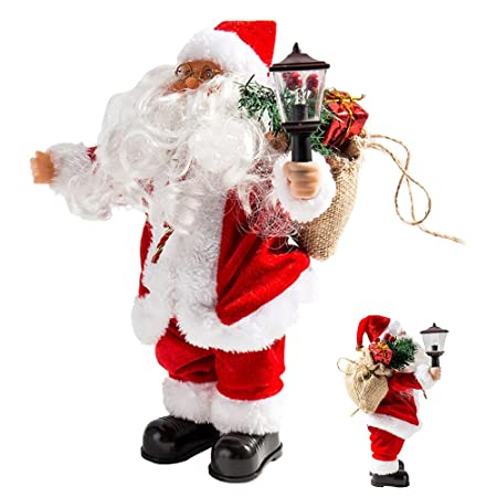 new_soul musical christmas santa claus toys christmas decorations santa claus figure electric singing standing xmas decorations