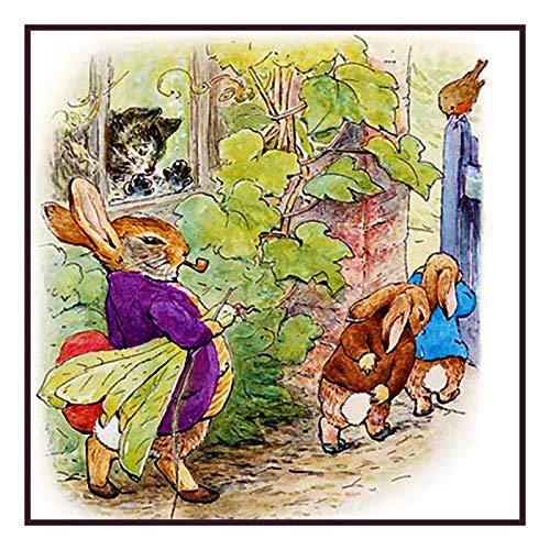 - Orenco Originals Mr Rabbit Marches Peter Benjamin Beatrix Potter Counted Cross Stitch Pattern