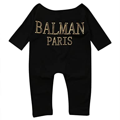 c256ba6a53b8 Image Unavailable. Image not available for. Color  Newborn Infant Baby  Girls Clothes Long Sleeve Off Shoulder Romper Jumpsuit