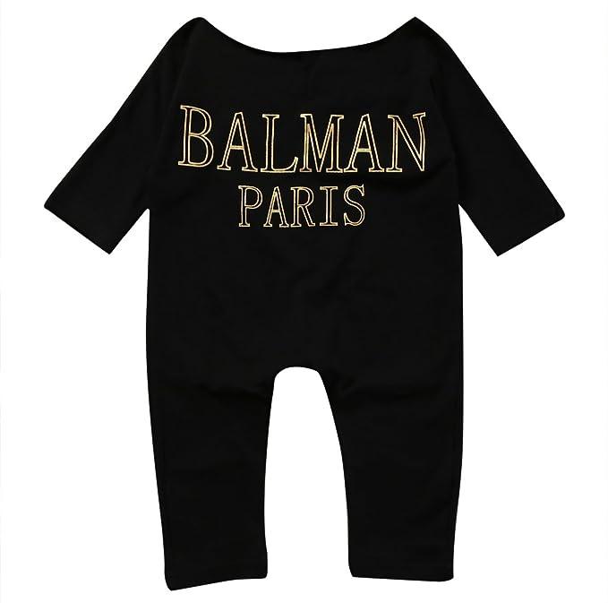 Newborn Infant Baby Girls Clothes Long Sleeve Off Shoulder Romper