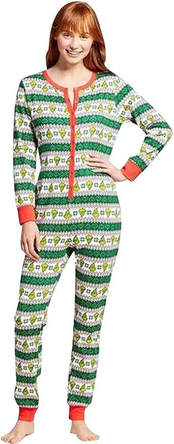 Pijamas de Navidad Familia Adultos Pijama de Una Pieza Familiares Manga Larga Hombre Mujer Pijamas Enteros para Niños Niña Chica Trajes Navideños para ...