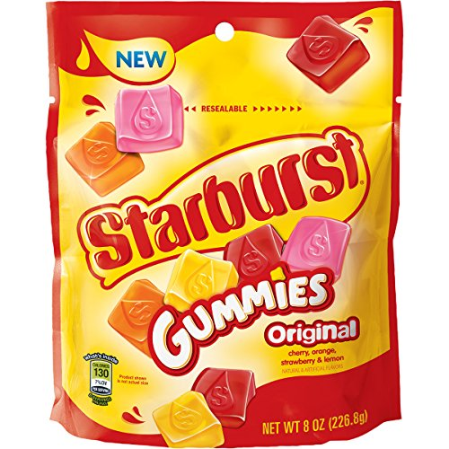 Starburst Gummies Originals Candy Bag, 8 ounce (Ohso Chocolate)