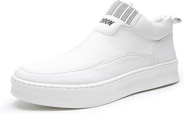 Cow Leather Men Shoes Casual Men White