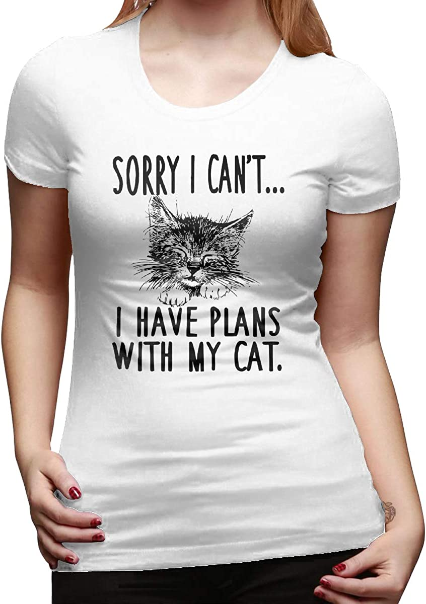 Sorry I Cant I Have Plans Womens Basic Short Sleeve Top Crew Neck T-Shirts