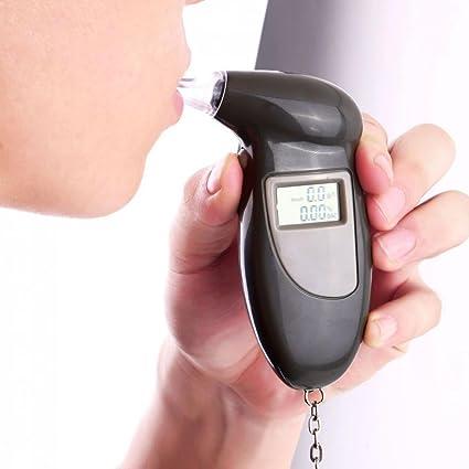 Sharplace Alcohol/ímetros Detector de Analizador Probador de Alcohol Alcoholemia Estilo Llavero port/átil Digital LCD