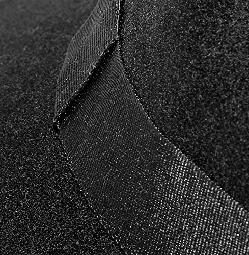Hat Unisex Fedora cubo en borde Accessoryo negro negro con vwxHUq