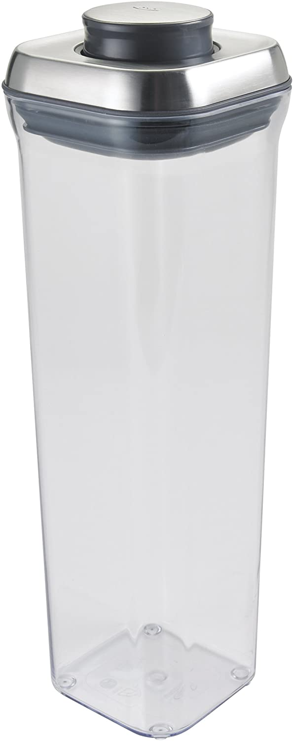 OXO SteeL 2.1 Qt POP Container – Airtight Food Storage – for Spaghetti and More