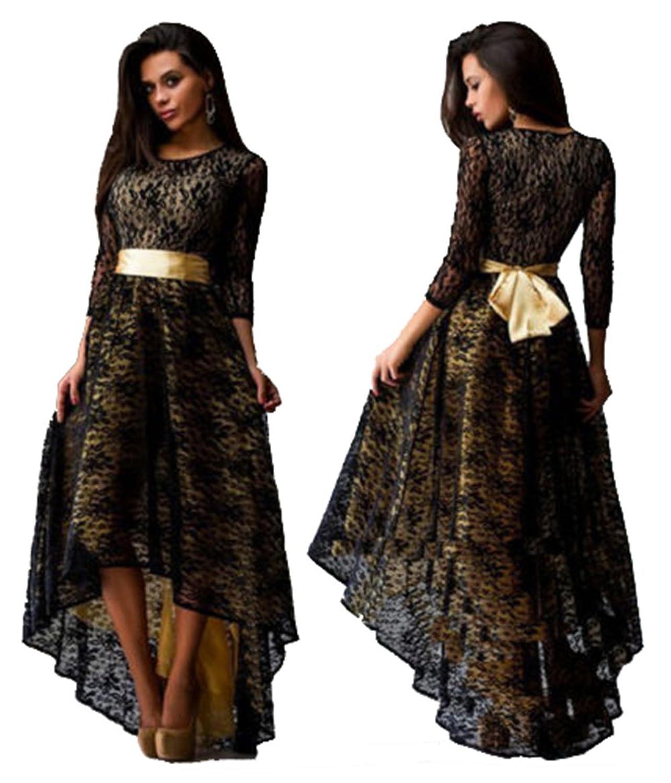 Ufirstever Damen Lang Maxikleid Tuniken Asymmetrisch Kleid Abendkleid Ballkleid